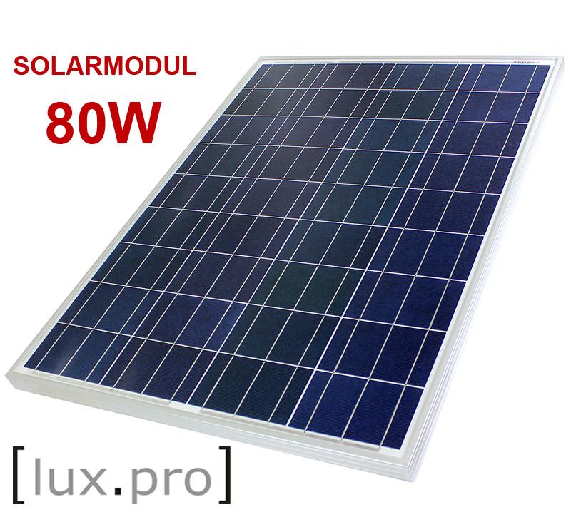 80w solarpanel solarmodul photovoltaik solarzelle solar 80 watt poly neu ebay. Black Bedroom Furniture Sets. Home Design Ideas