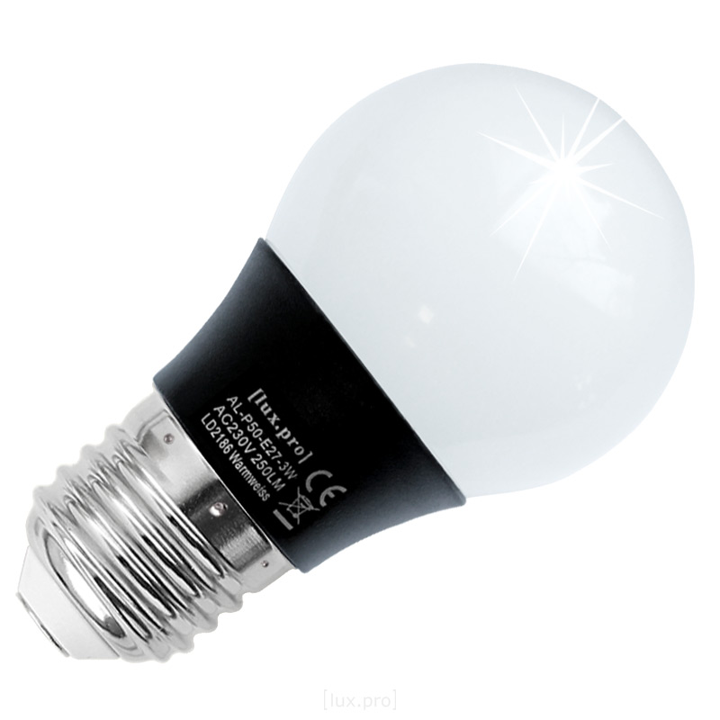 10x-lux-pro-E27-LAMPE-LED-3W-250LM-BIRNE-WARMWEIss-3000K-GLUHBIRNE-3-Watt-SMD