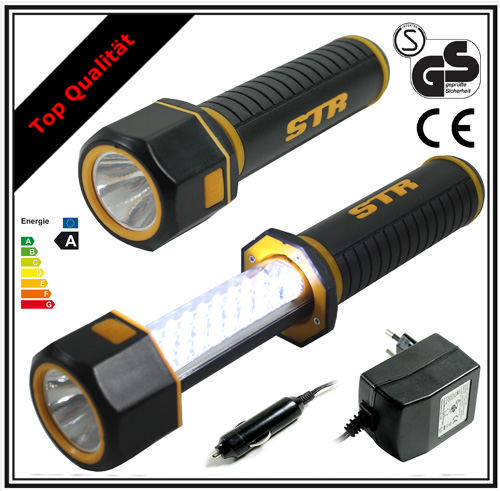 2in1 akku led stablampe taschenlampe arbeitslampe. Black Bedroom Furniture Sets. Home Design Ideas