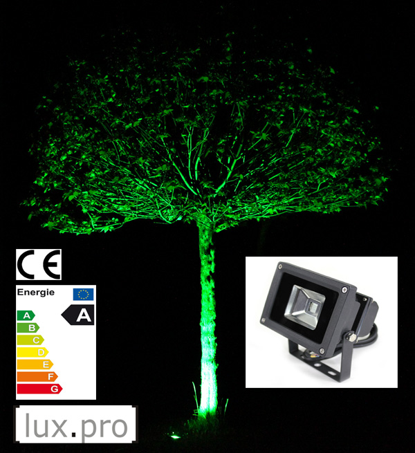 10w led smd fluter gr n gartenstrahler garten beleuchtung. Black Bedroom Furniture Sets. Home Design Ideas