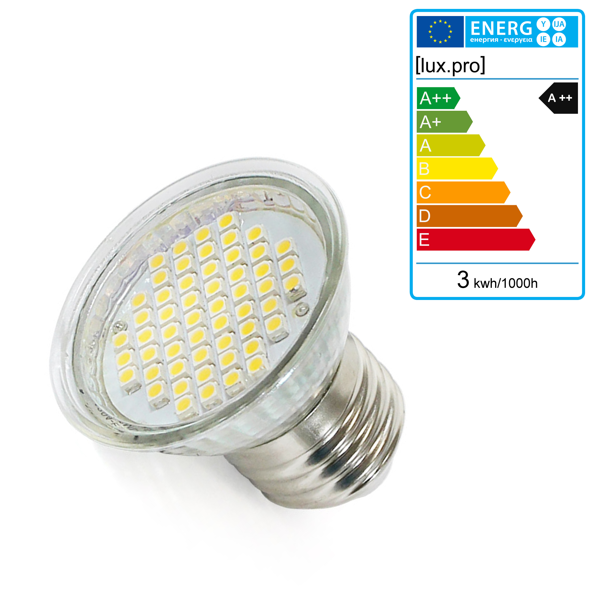 luxpro gu10 e14 e27 mr11 mr16 g4 g9 g24 gx53 gu5 3 gu4 led lamp spot bulb smd ebay. Black Bedroom Furniture Sets. Home Design Ideas