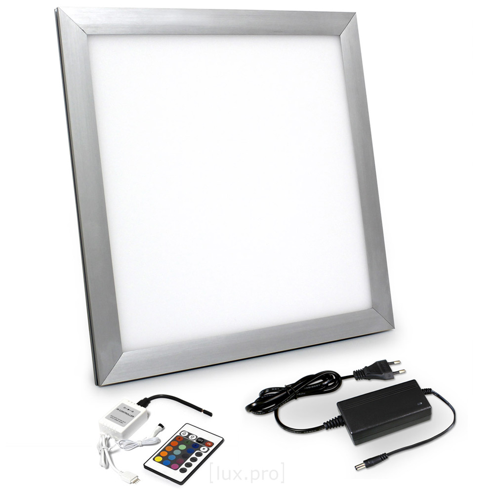 led rgb panel 30x30cm ultraslim farbwechsel fernbedienung dimmbar ebay. Black Bedroom Furniture Sets. Home Design Ideas