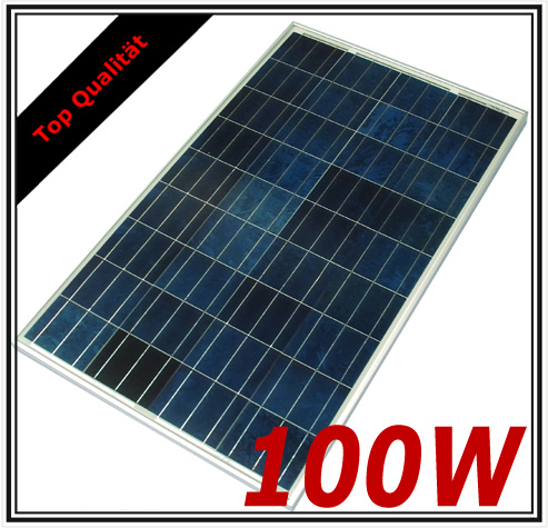 100w solarpanel solarmodul photovoltaik solarzelle neu poly 100 watt solar panel ebay. Black Bedroom Furniture Sets. Home Design Ideas