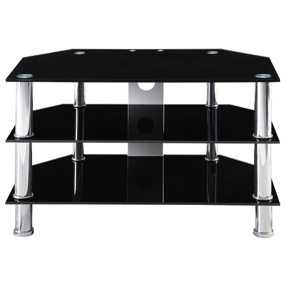 corium couchtisch tisch glastisch schwarz beistelltisch wohnzimmer wei rack ebay. Black Bedroom Furniture Sets. Home Design Ideas