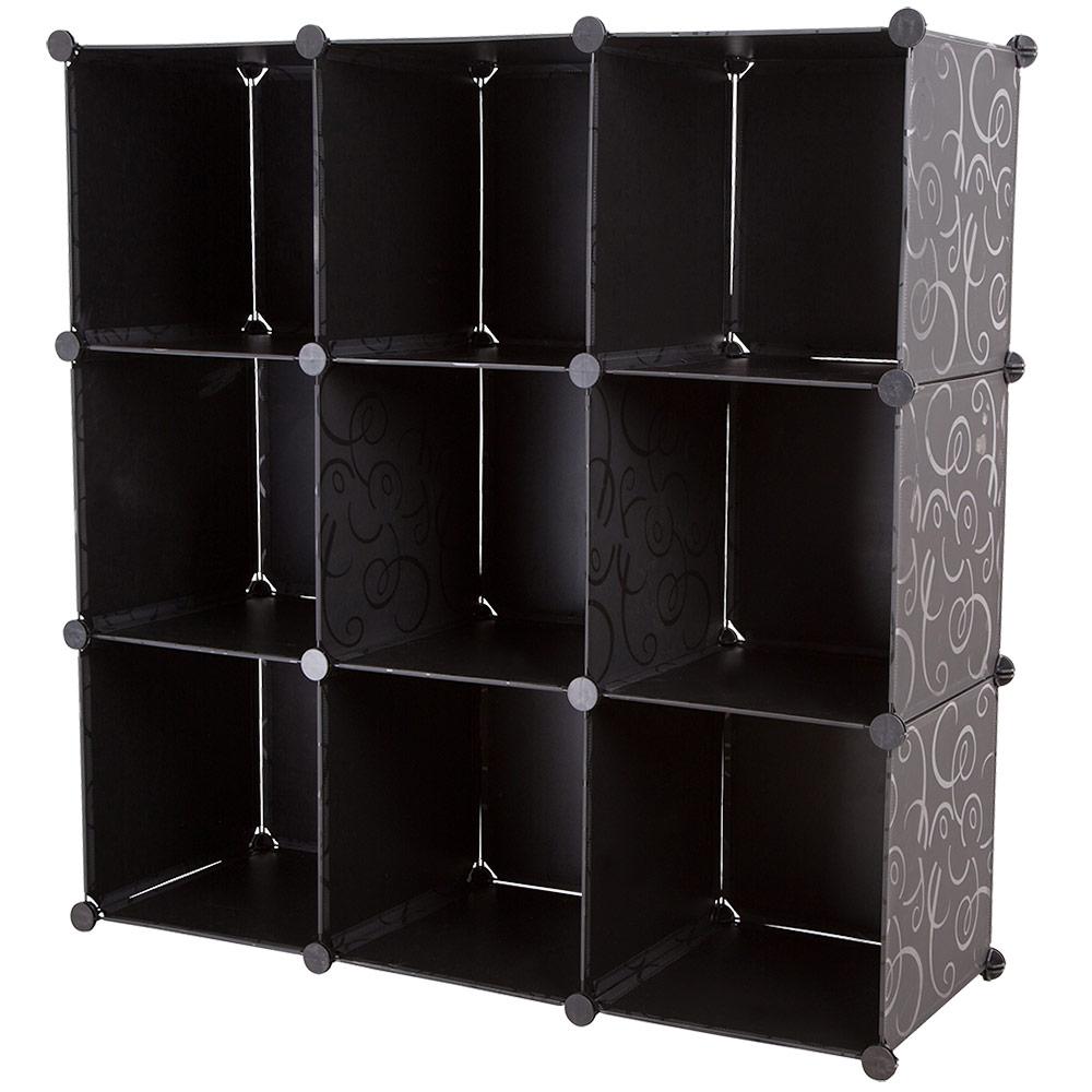 neu haus diy system regal schrank garderobe schwarz. Black Bedroom Furniture Sets. Home Design Ideas