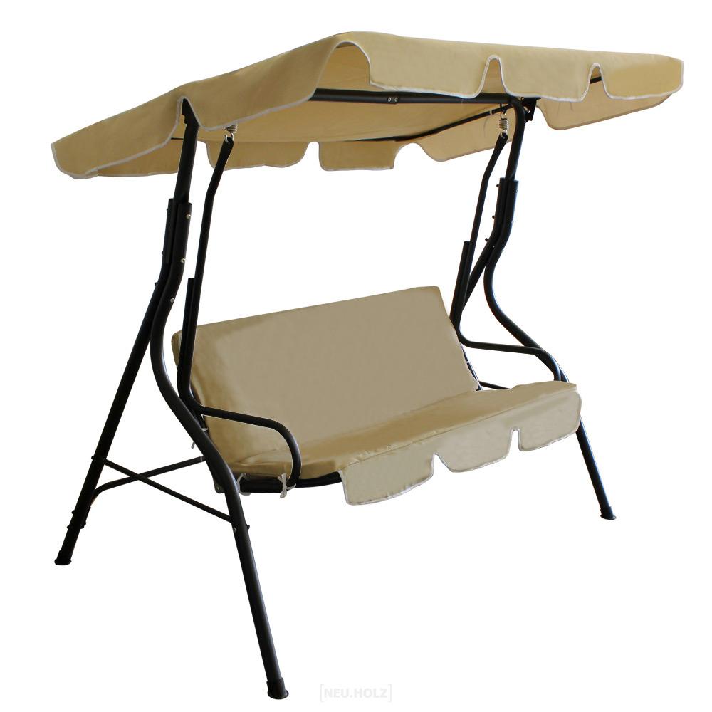 Swing Bench Garden Seat Cream Gray Green New Ebay