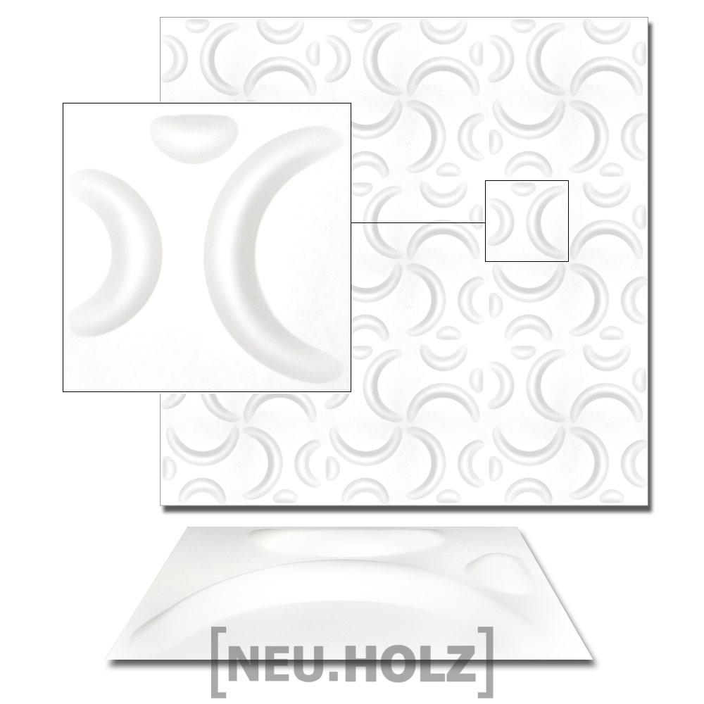 [NEU.HOLZ]® 6m² Wandpaneele 3D Wandverkleidung Design Wand Paneel Verblender