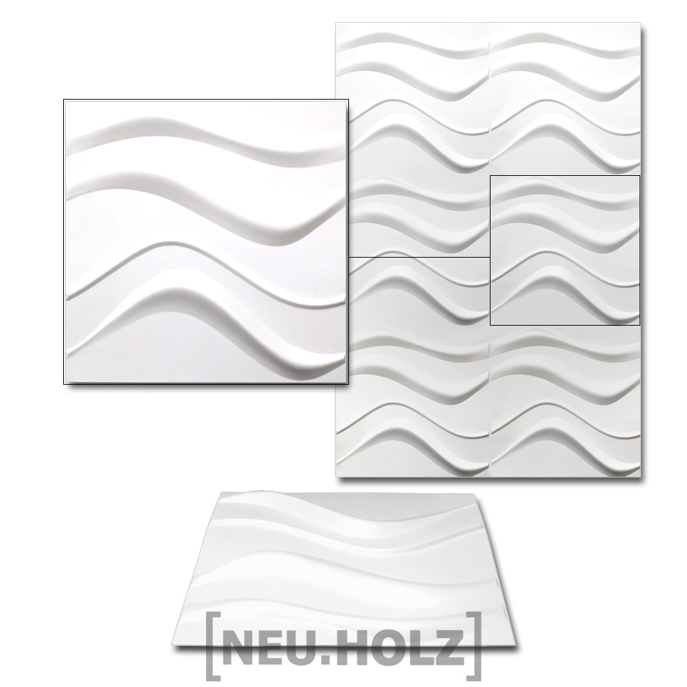 NEU.HOLZ® 6qm 3D Wandpaneele Wandverkleidung Design Wand Paneel Verblender