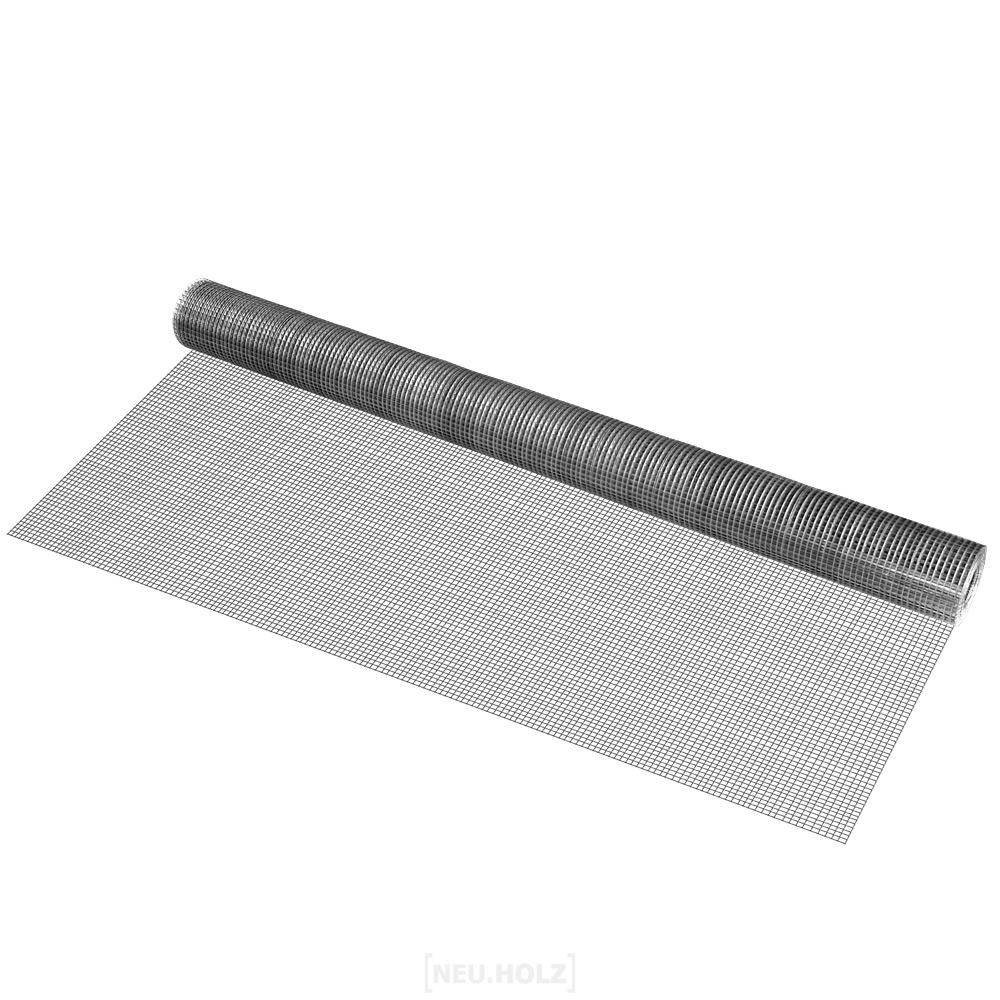 Drahtgitter-4-Eck-verzinkt-1mx5m-Schweissgitter-Volierendraht-Maschendraht-Zaun
