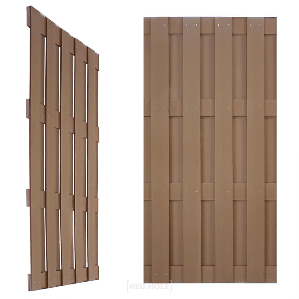 neuholz wpc zaun 180x90cm sichtschutz zaunelemente garten terrasse dielen ebay. Black Bedroom Furniture Sets. Home Design Ideas